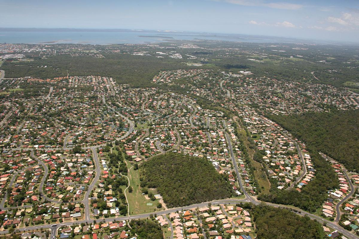 Aerial view of Alexandra Hills
