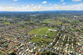 Aerial view of Raceview, Queensland