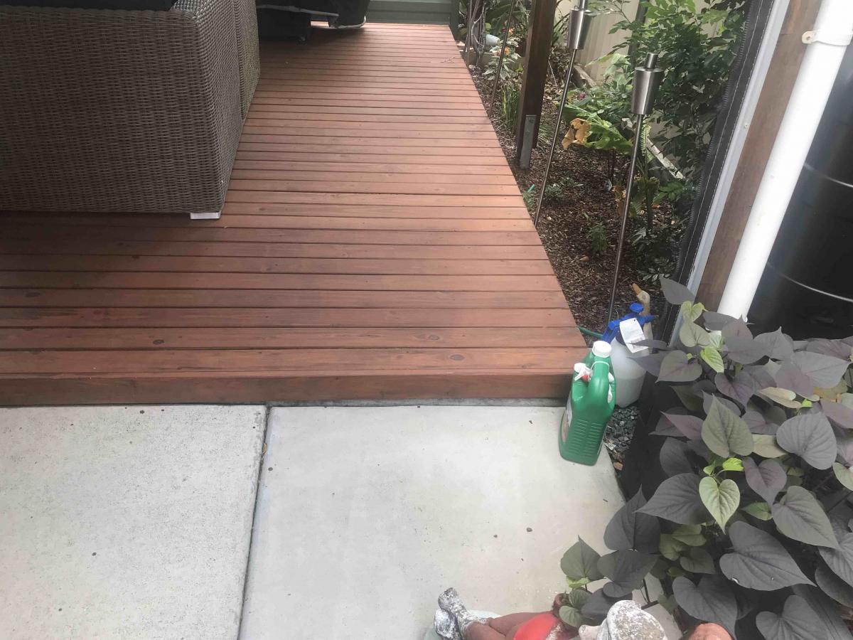 Deck On ground